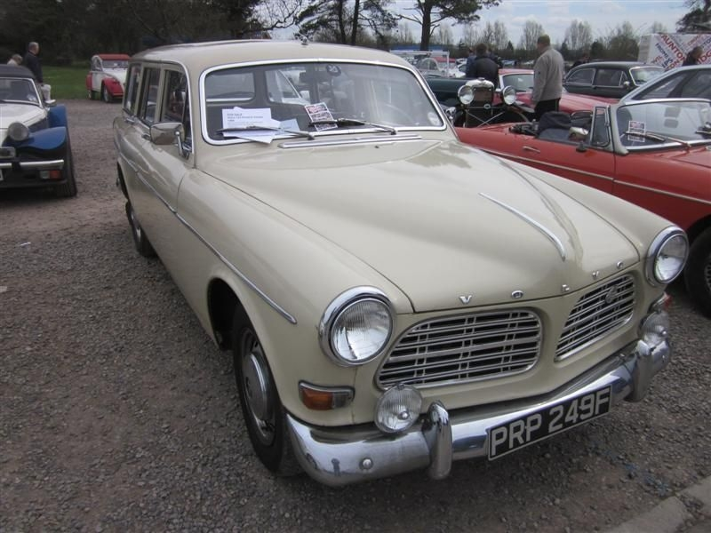 Volvo 120 Estate in the Carpark which was for sale